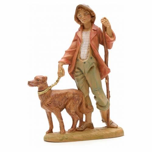 Berger avec chien crèche Fontanini 12 cm s1