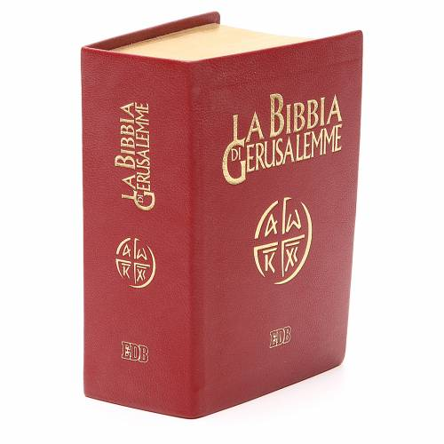 Bibbia di Gerusalemme pelle ed. tascabile rosso s4