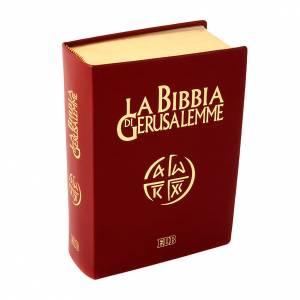 Bibbie: Bibbia Gerusalemme vera pelle bordo oro Nuova Traduzione