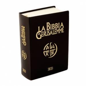 Biblias: Biblia Jerusalén verdadera piel Nueva Trad. LENGUA ITALIANA