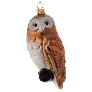 Blown glass ornaments: Blown glass Christmas ornament, owl