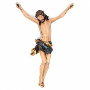Wooden crucifixes: Body of Christ in Valgardena wood, antique gold corpus  model