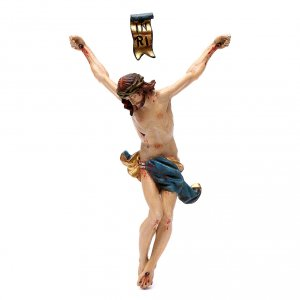 Body of Christ in Valgardena wood, antique gold finish s1