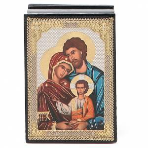 Boîtes russes laquées: Boîte laque russe Sainte Famille