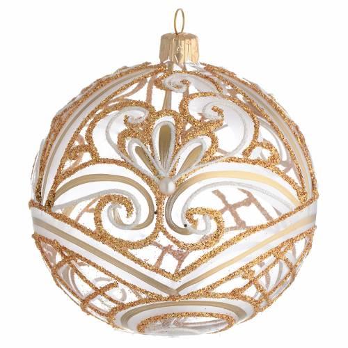 Bola de Navidad transparente oro 100 mm s1