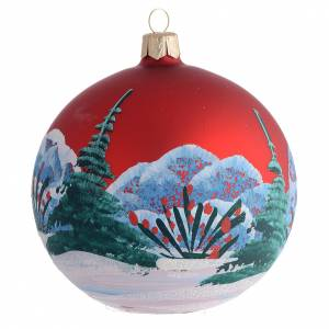 Bola de Navidad vidrio soplado decoupage niña 100 mm s2