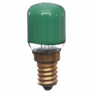 Bombilla 15w verde E14 para belén s1