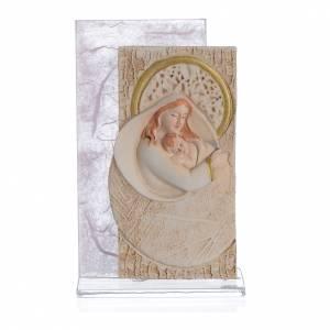 Bomboniere e ricordini: Bomboniera Nascita Quadretto Maternità carta seta Rosa 11,5 cm