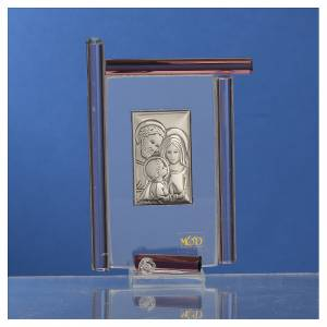 Bomboniera Sacra Famiglia Murano viola h.9 cm s2