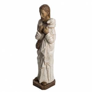 Bon Berger 56 cm pierre peinte Bethléem s3