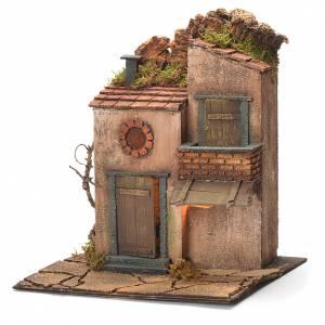 Borgo con balconcino e tegole presepe Napoli 30X30X30 cm s3