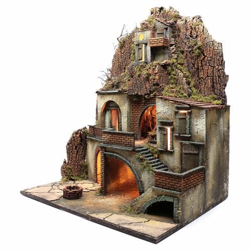 Borgo presepe napoletano con pozzo 80X70X50 cm s2
