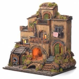 Borgo presepe stile 700 napoletano cm 45x35x33 s3