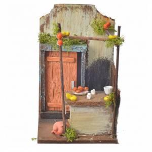 Ambientazioni, botteghe, case, pozzi: Bottega acquaiolo presepe cm 15x9,5x9,5