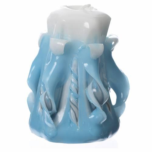 Bougie Medjugorje bleu 8x4,5 cm s2