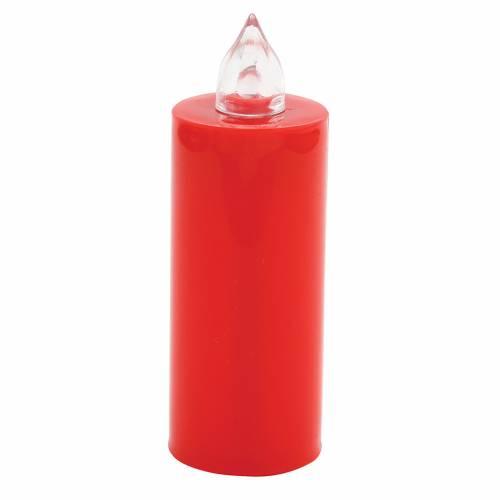 Bougie votive Lumada usage unique rouge clignotante pile s1