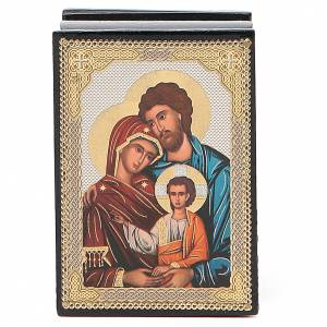 Box enamel Russia Holy Family s1