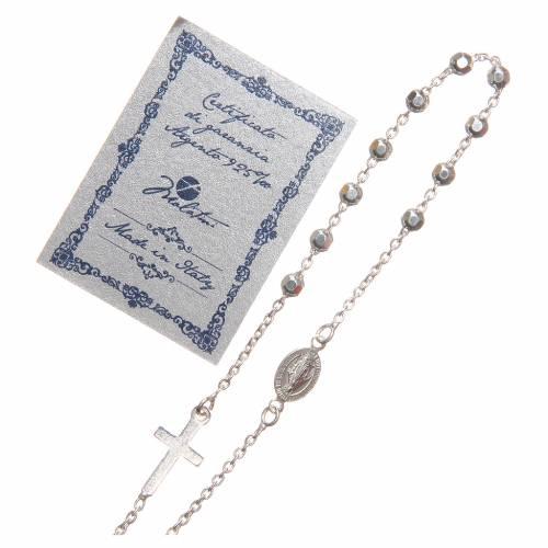 Bracciale argento 925 grani 3 mm s3