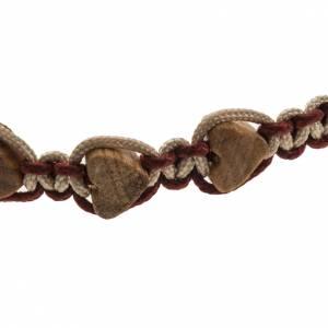 Bracciali, coroncine della pace, decine: Bracciale Medjugorje olivo cuore corda