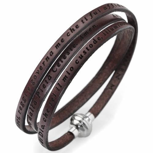 Bracelet Amen Ange de Dieu marron ITA s1
