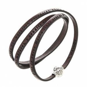 Bracelet Amen Je Vous Salue Marie marron ESP s1