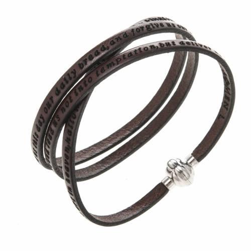 Bracelet Amen Notre Père marron ANG s1