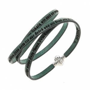 Bracelet Amen Notre Père vert ALL s1