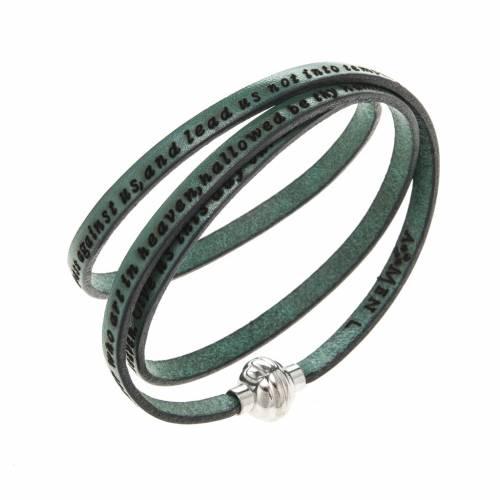 Bracelet Amen Notre Père vert ANG s1