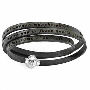 Bracelet AMEN phrase Mère Teresa de Calcutta ITA vert militaire s1