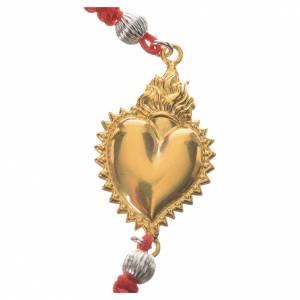 Bracelet corde rouge argent 800 exvoto doré s2