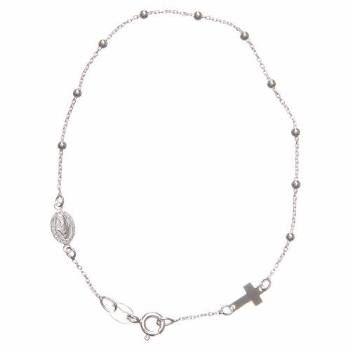 Bracelet dizainier argent 925 croix médaille s1