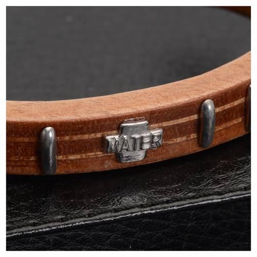 Bracelet dizainier MATER bois et argent s2