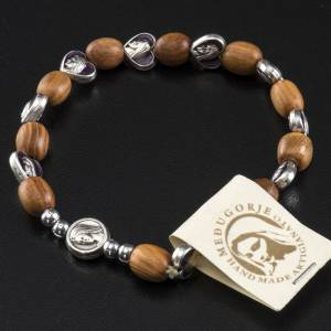Bracelet élastique bois d'olivier Medjugorje s3