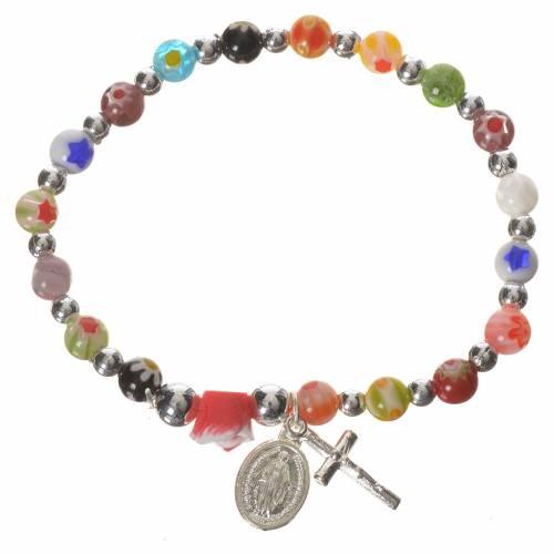 Bracelet élastique verre 6 mm s1