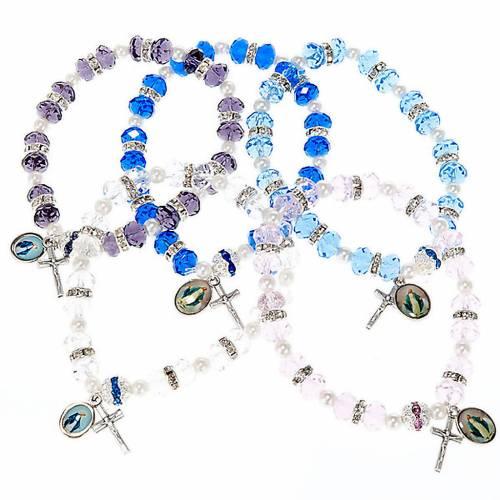 Bracelet grains cristal et paillettes s1