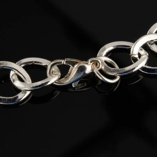 Bracelet in metal with ceramic cross s5
