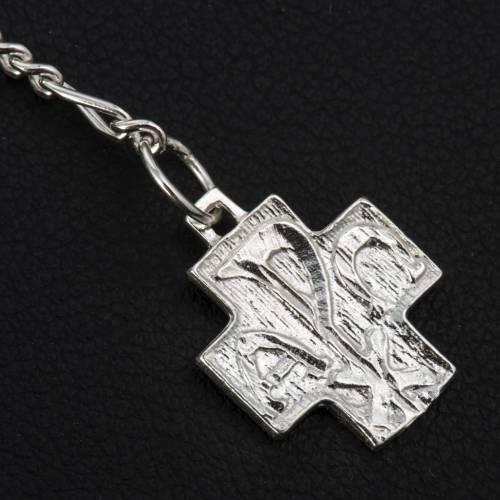 Bracelet, One Decade rosary beads, multicoloured rhinestone ball s4