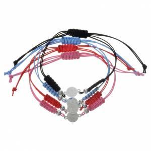 Bracelet Pape François médaille argent 800 corde s2