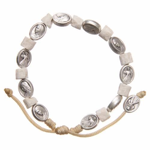 Bracelet pierre blanche Medjugorje s1