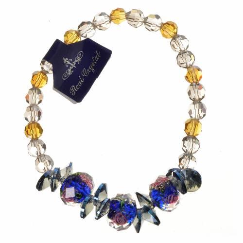 Bracelet Trinité élastique Cristal bleu s1