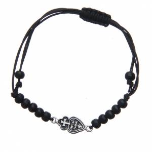 Gold and silver bracelets: Bracelet with Passionists symbol in 800 silver