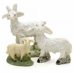 Brebis et chèvre crèche résine h 4 cm s1