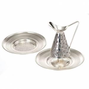 Brocche per manutergio: Servizio brocca per manutergio cesellata Cervi alla Fonte