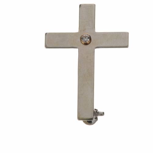Broche croix clergyman argent 800 s1