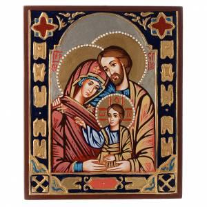 Handgemalte rumänische Ikonen: Byzantinische Ikone Heilige Familie