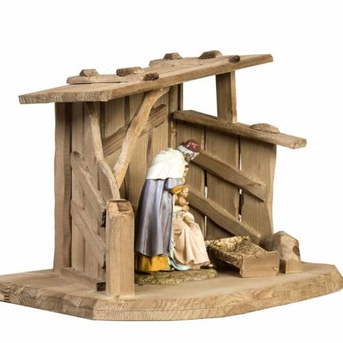 Cabaña de madera para pesebre 28x38x28cm s3