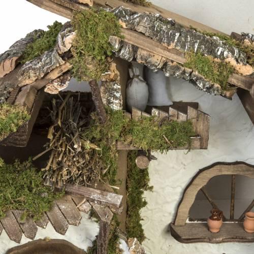 Cabaña estilo choza para pesebre 50x78x38cm s5