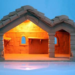 Cabaña para el belén de terracota para estatuas 18 s3