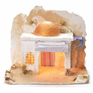 Cabane arabe de crèche napolitaine 31x36x30 cm s1