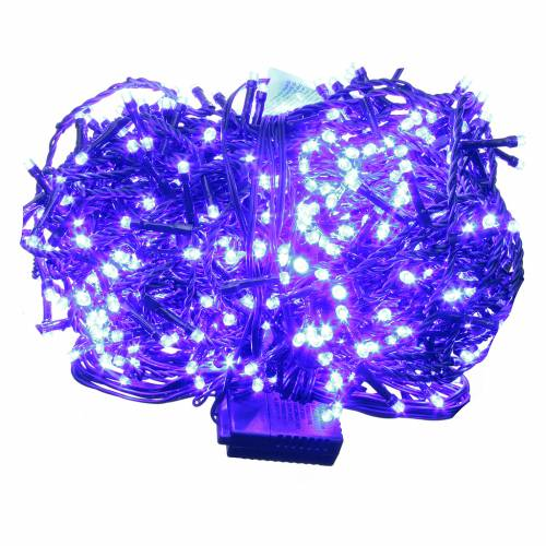 Cadena de luces de Navidad 1000 LED azules programables para exterior s1